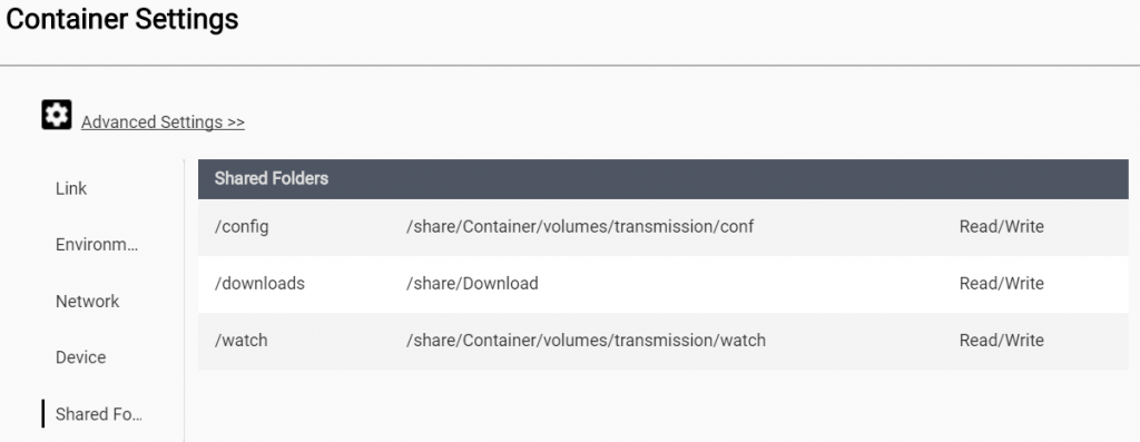 QNAP X86 (TS-453a) Transmission setup through Docker – filegott